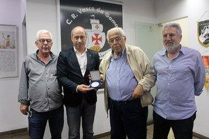 Fernando Horta, Inácio Ribeiro, presidente Eurico Miranda e vice de futebol José Luis Moreira
