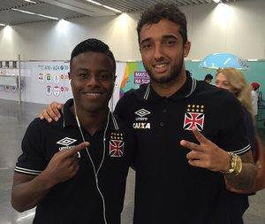 Robinho e Hugo Borges