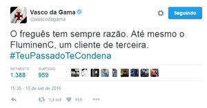 Vasco ironiza Fluminense
