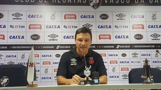 Zé Ricardo deu entrevista coletiva no Vasco