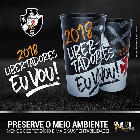 Copos comemorativos da Libertadores 2018