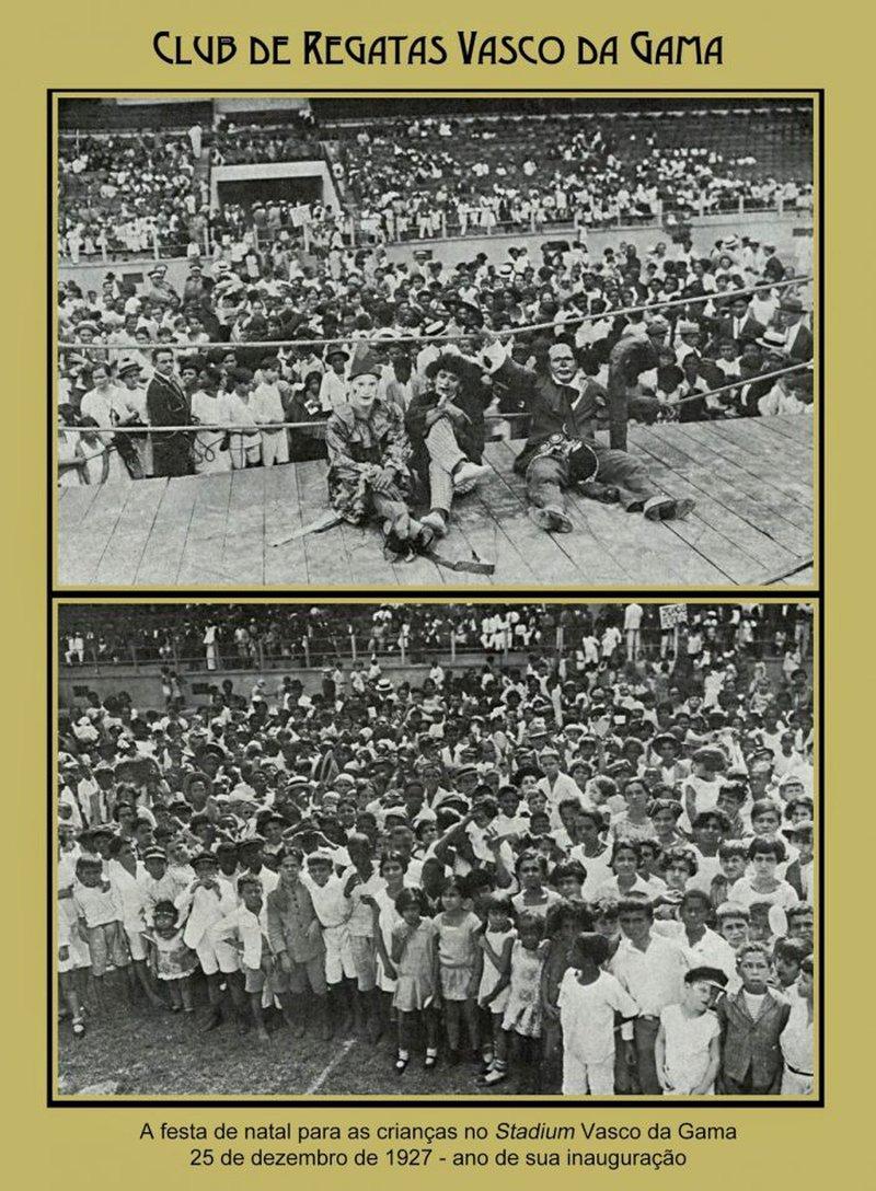 No ano da inauguração de seu estádio, clube realizou festa de natal no gramado