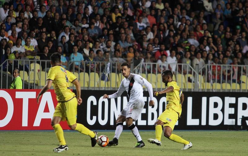 Thiago Galhardo em sua estreia pelo Vasco