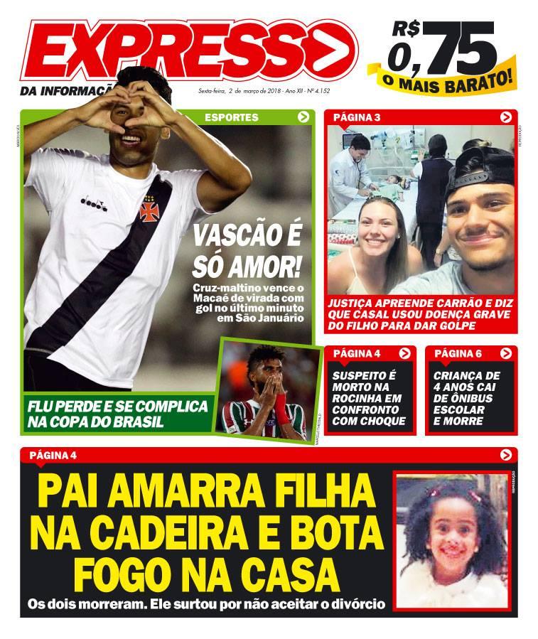 Capa: Vasco x Macaé
