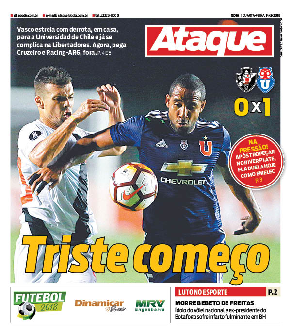 Jornal Vasco x Universidad de Chile