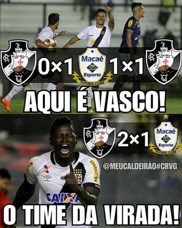 Meme: Vasco x Macaé