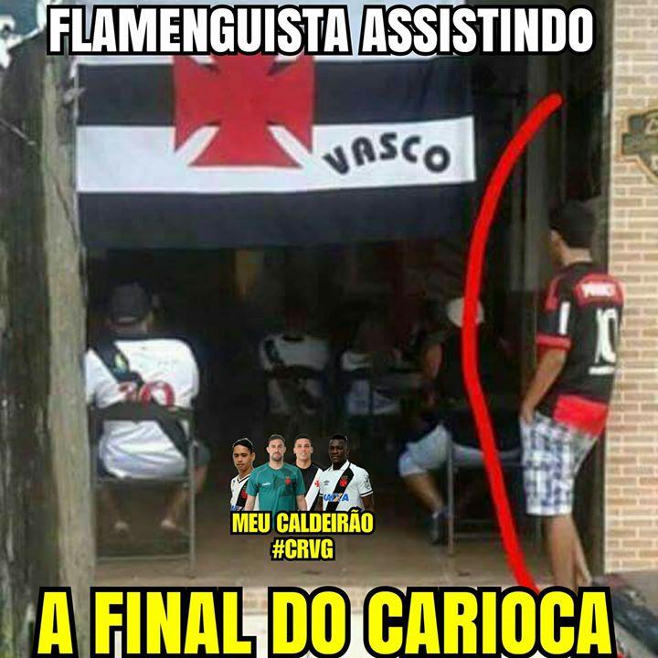 Flamenguista assistindo a final do Carioca