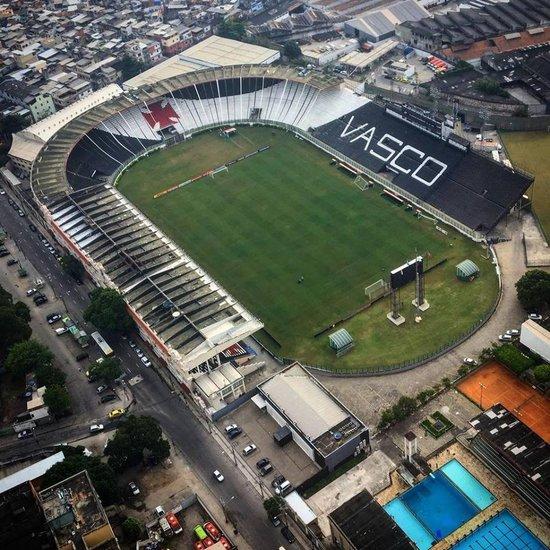Imagem aérea de São Januário
