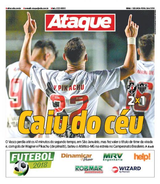 Jornal Vasco x Atlético-MG
