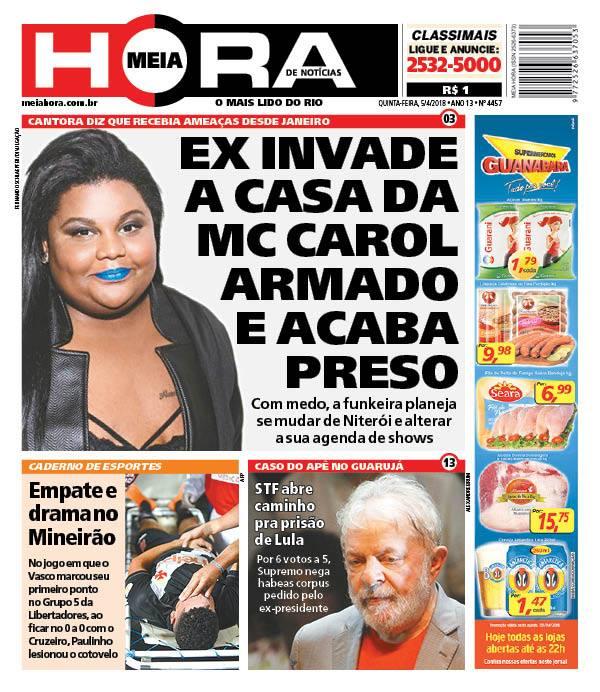 Jornal Vasco x Cruzeiro