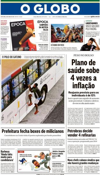 Jornal Vasco x Racing