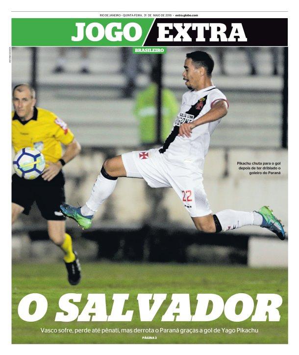 Jornais Vasco x Paraná