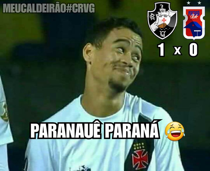 Memes de Vasco x Paraná