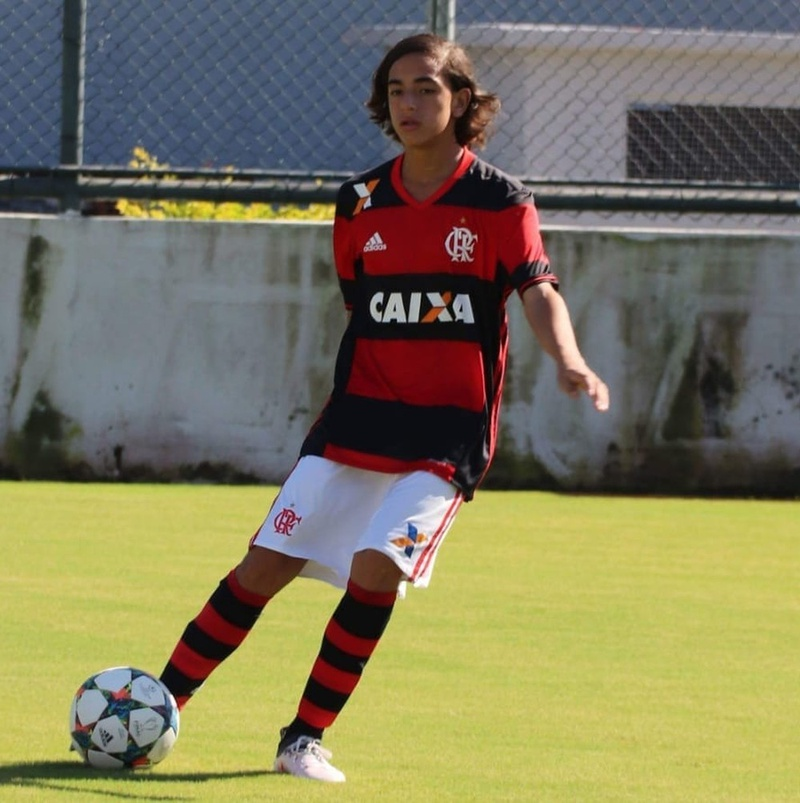 Guga Maia já com a camisa do Flamengo