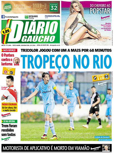 Jornal: Vasco 1 x 0 Grêmio