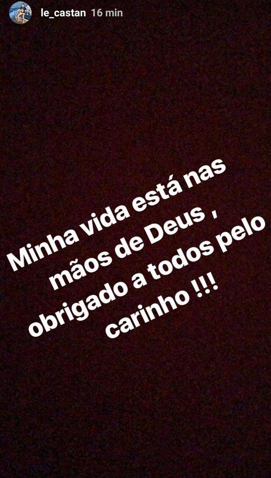 Leandro Castan agradece o carinho