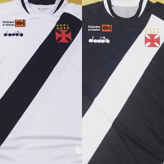 Marca GPI estampada na camisa do Vasco