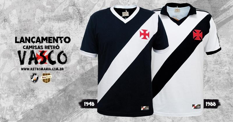 69caec14ea RetrôMania apresenta modelos históricos de camisas do Vasco - SuperVasco