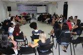 Vascaínas contra o assédio (Foto: Site Oficial do Vasco)