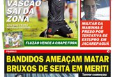 Jornal - Vasco x Bahia (Foto: Divulgação)