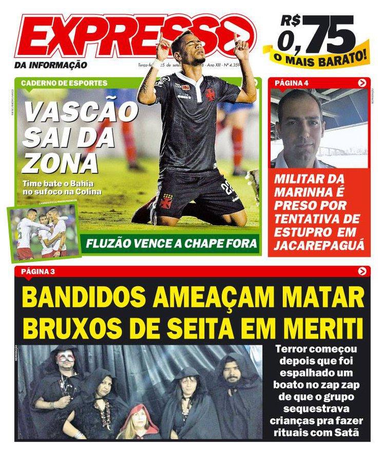 Jornal - Vasco x Bahia