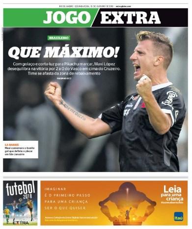 Jornais: Vasco x Cruzeiro