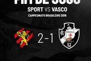 Sport 2 a 1 Vasco (Twitter Oficial do Vasco da Gama)