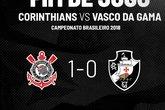 Corinthians 1 a 0 Vasco (Foto: Twitter Oficial do Vasco)
