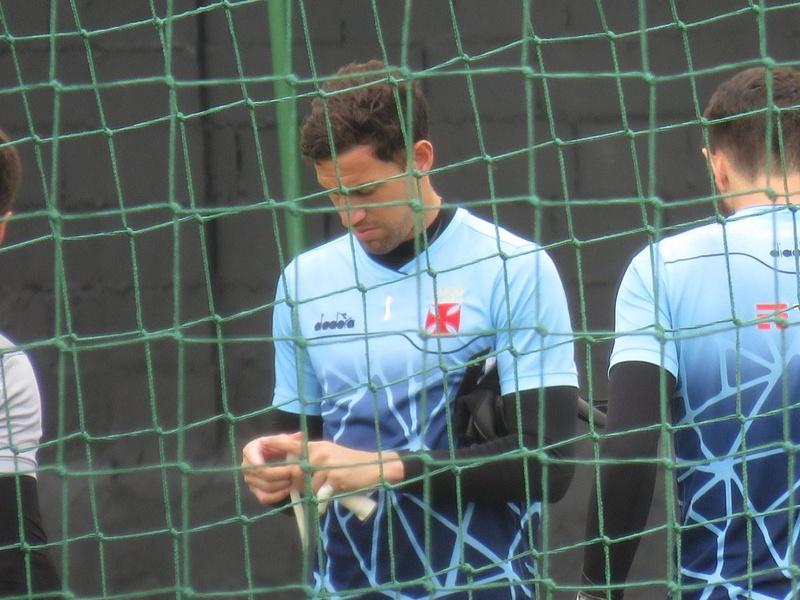 Martin Silva durante treino do Vasco