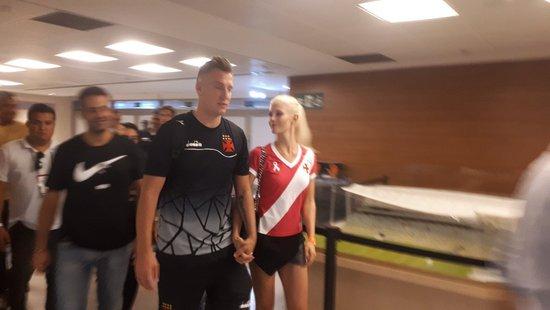 Maxi López e Daniella Christiansson, Vasco