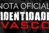 Nota oficial do Grupo Identidade Vasco (Foto: Facebook Identidade Vasco)