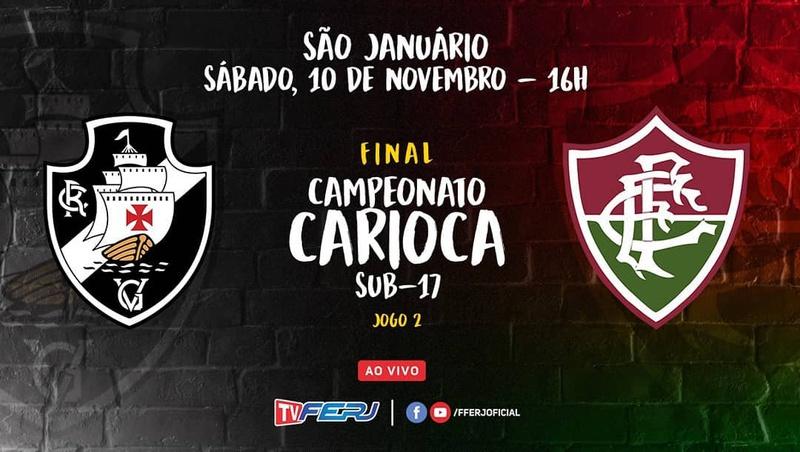 Vasco enfrenta o Fluminense pela final do Carioca Sub-17