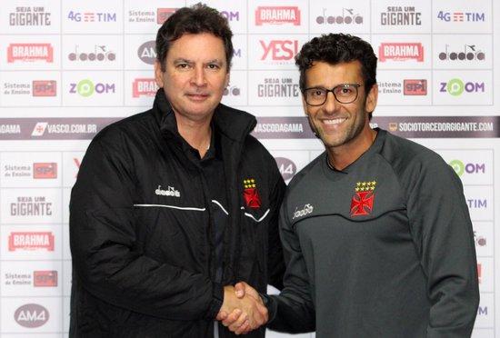 Alexandre Faria e Alberto Valentim seguem no Vasco para 2019