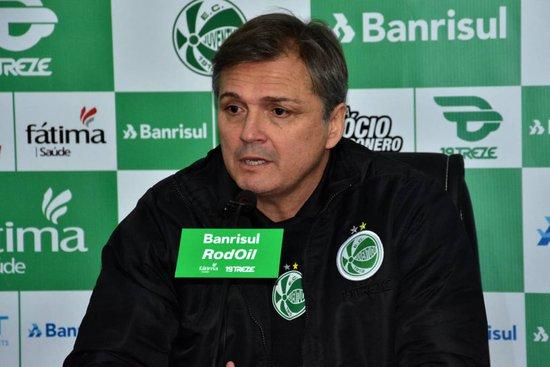 Atualmente Luís Carlos Winck é o técnico do Juventude