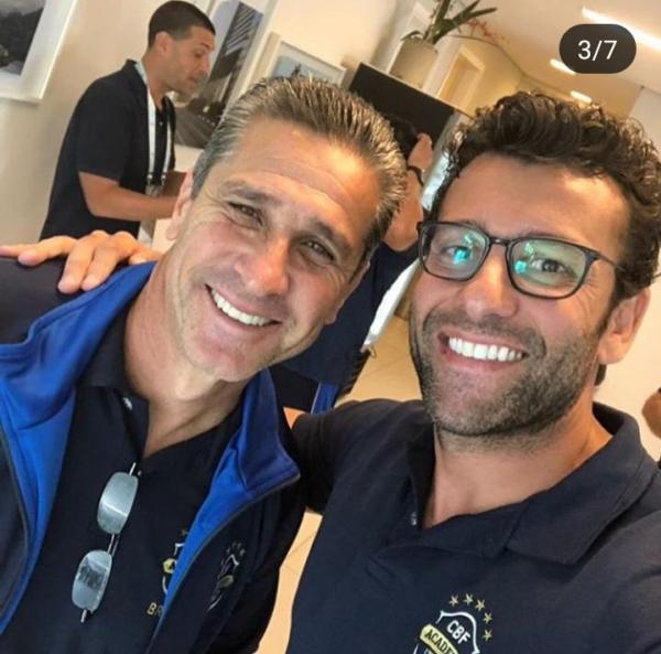 Valentim e Jorginho, ex-técnico do Vasco