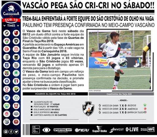 Vasco x São Cristóvão