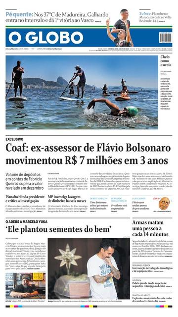 O Globo de 20 de janeiro