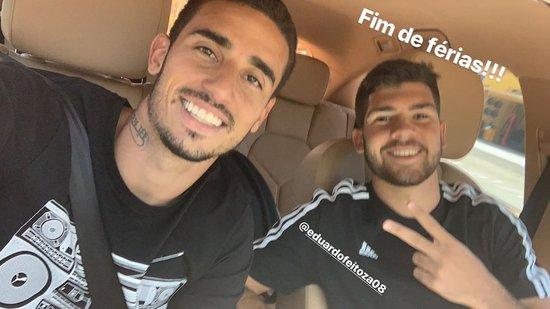 Thiago Galhardo e Dudu