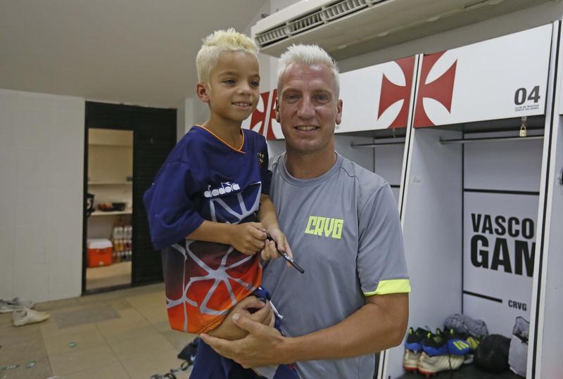 Maxi López recebeu o garoto Luigi
