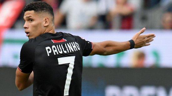 Na atual temporada, Paulinho fez apenas um gol em 14 jogos pelo Bayer Leverkusen