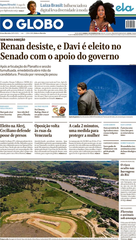 O Globo / 3 de Fevereiro