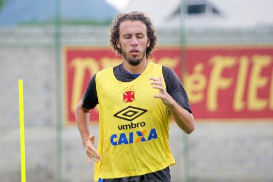 Rafael Galhardo em treino do Vasco