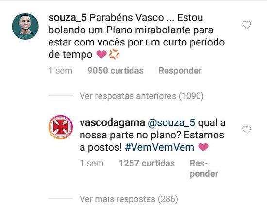 Souza fala sobre plano mirabolante no Instagram