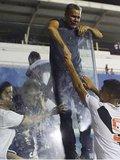 Edvaldo surpreendeu o filho com a presença na semifinal da Copinha, contra o Corinthians