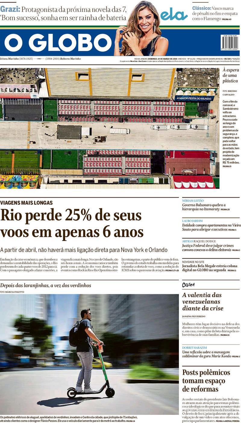 O Globo / 10 de Março
