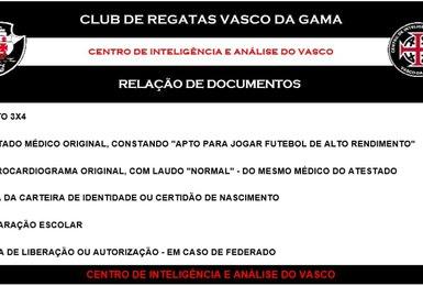 Testes para jogar no Vasco