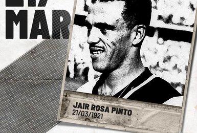 Vasco parabeniza Jair Rosa Pinto