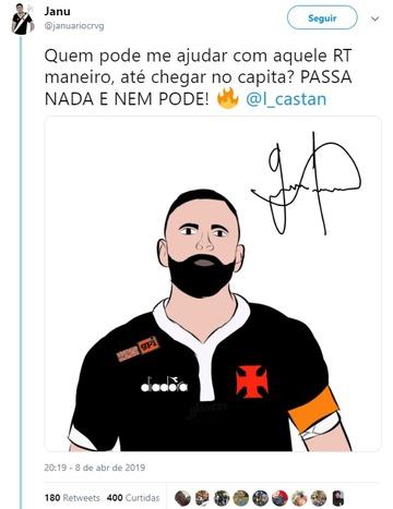 Castan desenhado por torcedor do Vasco