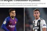 Coutinho e Dybala (Foto: Reprodução/Internet)