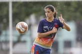 Gabrielly durante treino do time no CT de Caxias (Foto: Rafael Ribeiro/Vasco.com.br)